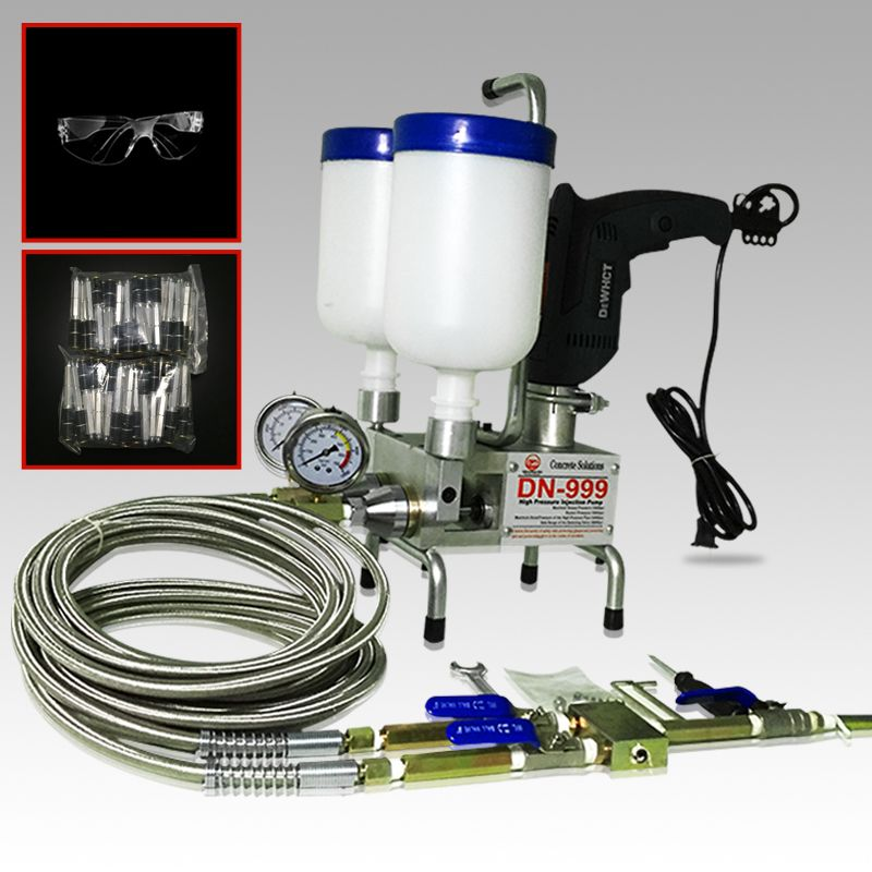 premium Epoxy Injection pump Polyurethane Foam Dual Element! SUIT ! Crack Injection PUMP for PU or Epoxy