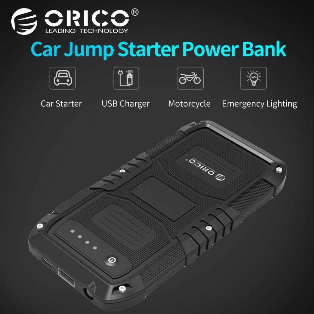 ORICO CS1 Car Emergency Battery Charger Mini Portable Mobile Power Bank Booster Starting Power Bank for Phone with flashlight