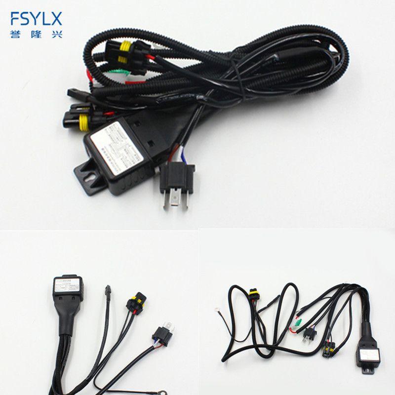 FSYLX 12 V 35 W 55 W 75 W HID Bi xenon H4 Fil harnais Contrôleur pour Phare De Voiture Rénovation connecter hid bixenon projecteur lentille