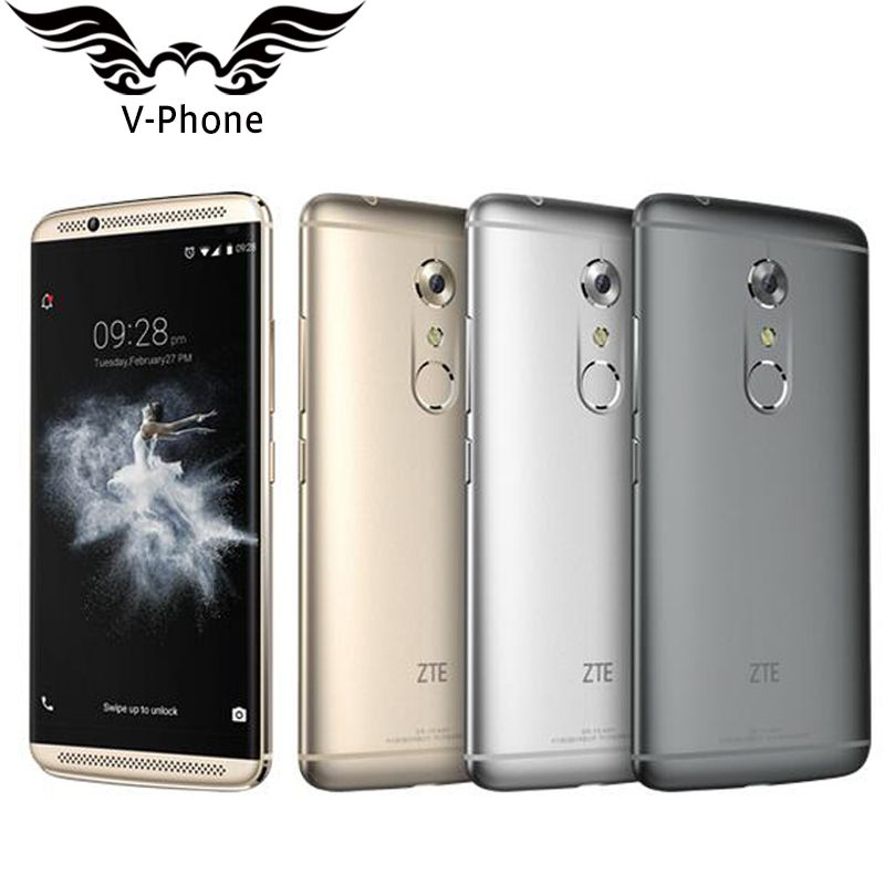 New ZTE Axon 7 A2017 4G LTE Mobile Phone 4GB RAM 128GB ROM Snapdragon 820 Quad Core 2.15GHz 5.5