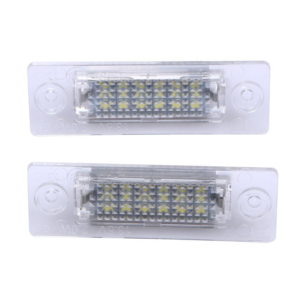 2 pièces numéro de LED plaque d'immatriculation lumière arrière lampe 18-LED pour VW Caddy Transporter Passat voiture plaque d'immatriculation lumières voiture style