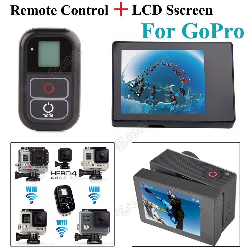 Suptig Pour GoPro Hero 6 5 4 Accessoires À Distance Smart WIFI Télécommande + Écran LCD BacPac Pour GoPro Hero 4 3 + 3 caméra