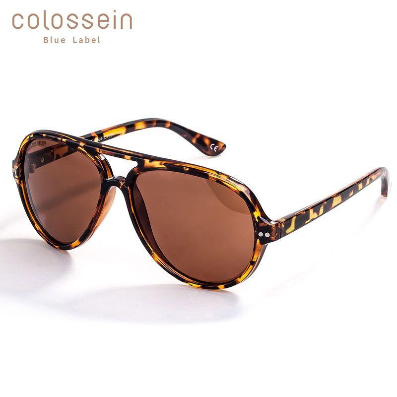 COLOSSEIN lunettes de soleil hommes polarisé rétro léopard lunettes cadre femmes lunettes de soleil femme miroir lunettes UV400 lunettes de soleil Vintage