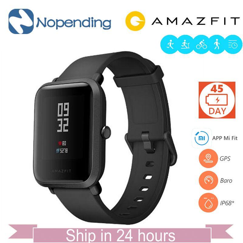 Английский новый оригинальный Хуа Mi Amazfit Bip бит Lite Смарт-часы Mi Смарт-часы подходят отражение SmartWatch Водонепроницаемый IP68 для Сяо mi