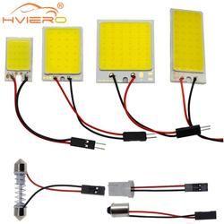Белый красный синий T10 COB 24 SMD 36 SMD; Автомобильные светодиоды панель автомобиля лампы авто лампа для чтения в помещении лампа купольная гирлян...