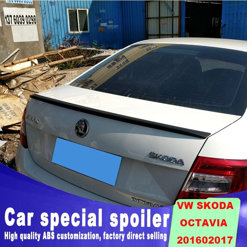 DIY Spray paint for any color for 2015 to 2017 year Volkswagen VW SKODA Octavia by rear trunk spoiler Curve modes wings