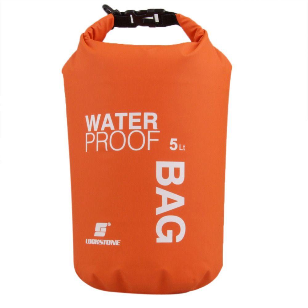 LUCKSTONE 5L Ultraleichtflugzeuge Im Freien Wasserdichte Rafting Trockene Tasche Camping Travel Kit Ausrüstung Kanu Kajak Schwimmen Taschen Lagerung Orange