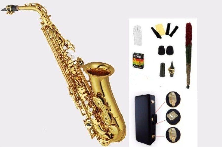 Hohe qualität Alto saxophon YAS62 82Z 875EX Gold Lack E flat altsaxophon Top Musik professional grade Durchführung