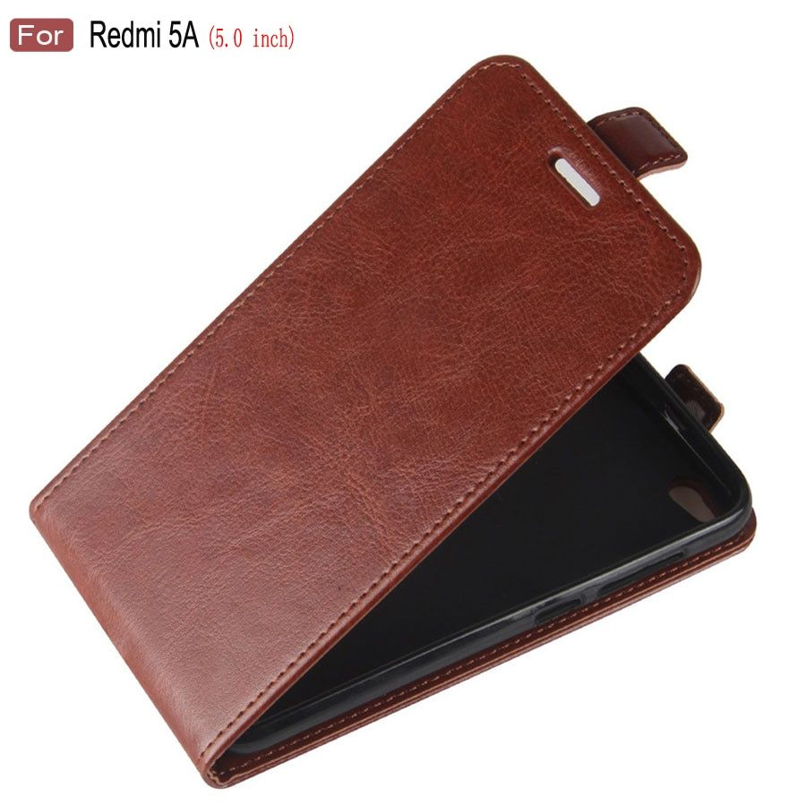 HOTSWEI Case For Xiaomi Redmi 5A Global Version 5.0 Retro Vertical Leather Flip Case for Xiaomi Redmi 5A Cover Phone Bag Fundas