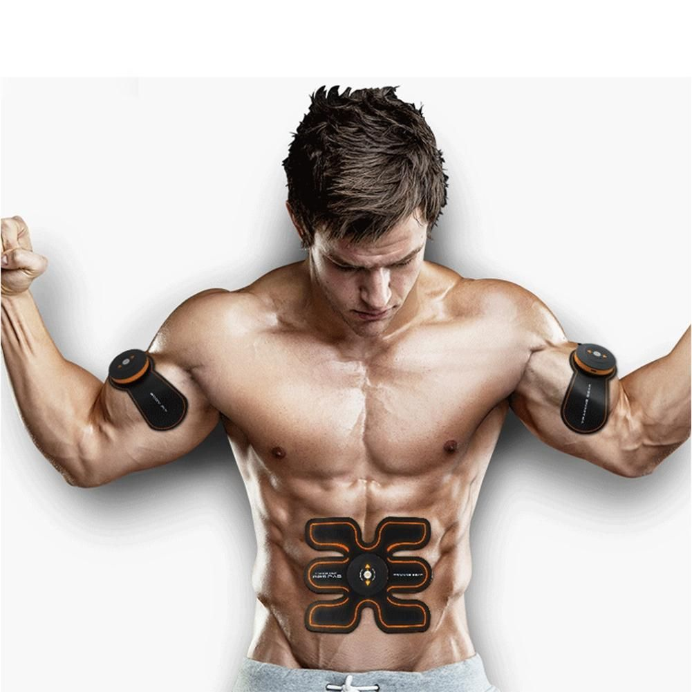 LumiParty Electric Abdominal Muscle Trainer Body Massage Fitness Training EMS Exercise Abdomen/Arm/Leg Toning Belt