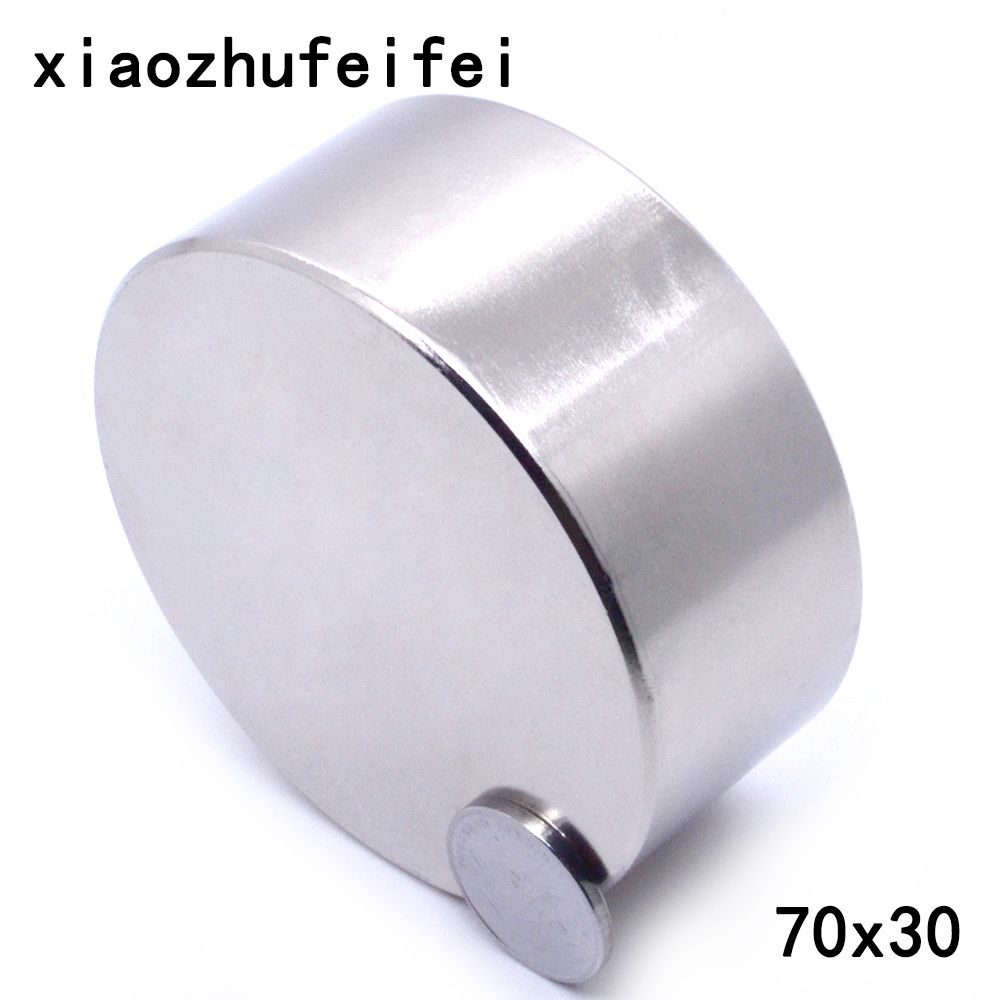 Magnet 1pcs/lot N52 Dia 70x30 mm hot round magnet Strong magnets Rare Earth Neodymium Magnet