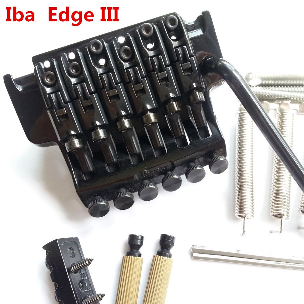 1 set Original Genuine Edge III Bridge Electric Guitar Locking Tremolo System Bridge For IBZ Black