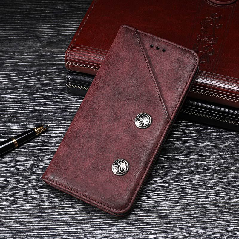 Ulefone Power 3S Case Cover Luxury Leather Flip Case For Ulefone Power 3 Protective Phone Case Retro Back Cover 6.0