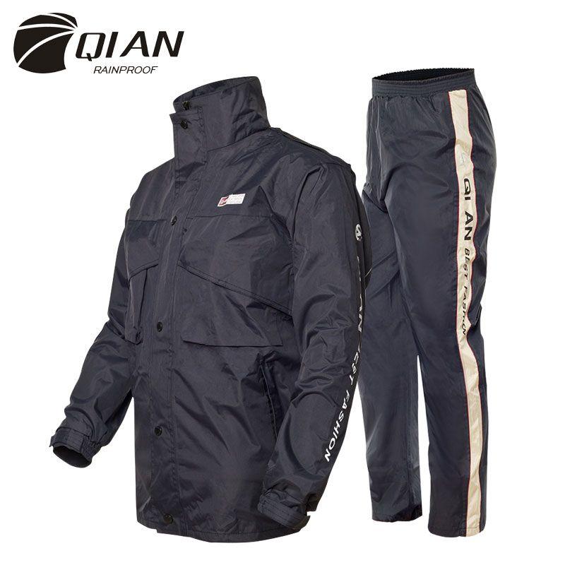 QIAN Impermeable Raincoat Women/Men Suit Rain Coat Outdoor Hood Women's Raincoat Motorcycle Fishing Camping Rain Gear Men's Coat