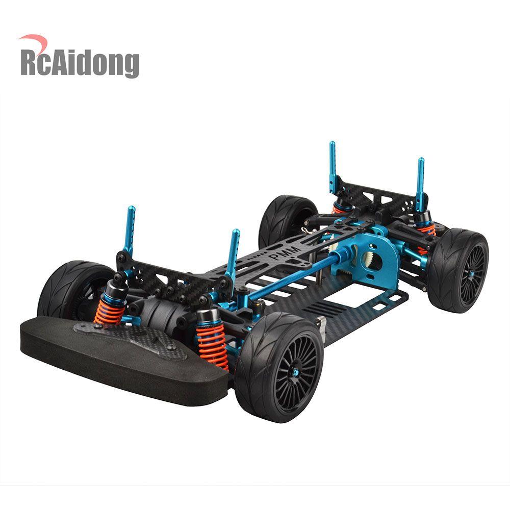 Aluminium Alloy & Carbon Shaft Drive 1/10 4WD Touring Car Frame Kit for TAMIYA TT01 TT01E Car