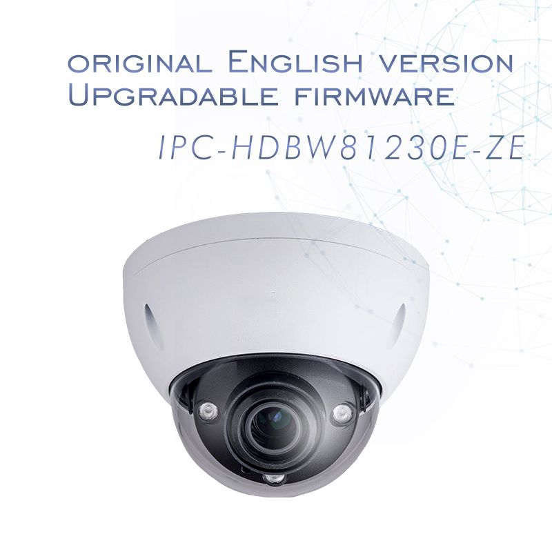 English version 4k 12MP IP Camera IPC-HDBW81230E-Z dome CCTV Camera 4.1mm-16.4mm motorized lens Support ePOE and SD card