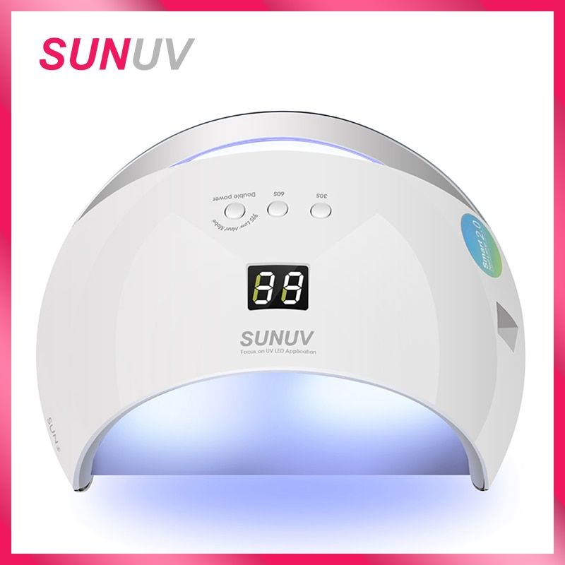 SUNUV SUN6 Smart Lamp Nail LED UV Lamp Dryer Metal Bottom LCD Timer Multicolors for Curing UV Gel Polish Nail Art Tools