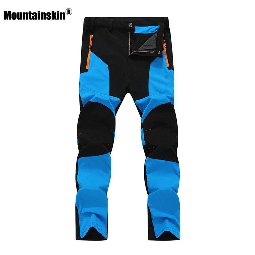 Mountainskin 2017 New Men's Summer Quick Dry Pants Outdoor Elastic Hiking Camping Trekking Fishing Climbing Sport Trousers VA172