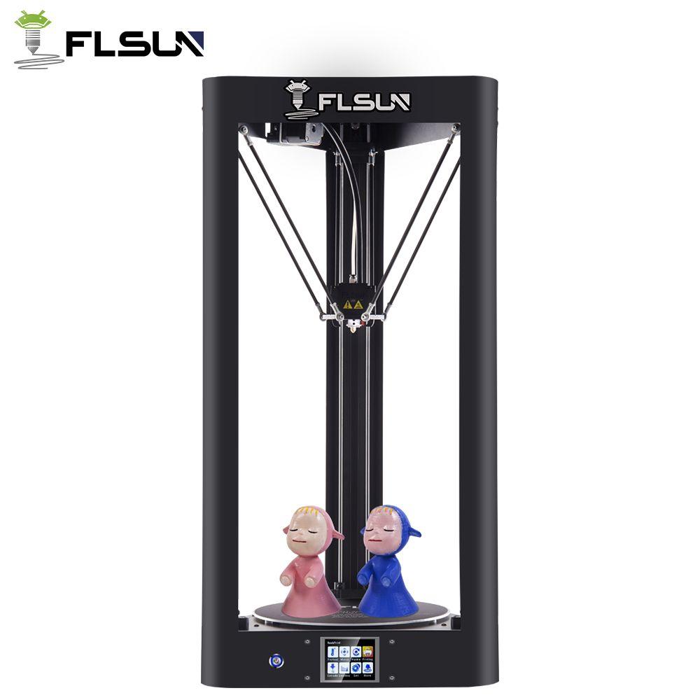 Upgrade 3d Printer Flsun QQ Glass plate Pre-assembled Delta Kossel Touch Screen Wifi Module Large Printing size 260*260*370mm
