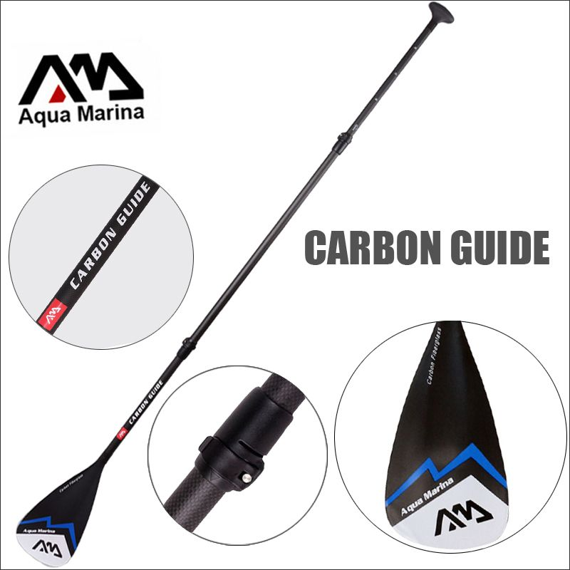 CARBON GUIDE AQUA MARINA fibergalss paddle SUP stand up paddle board for surfing boards adjustable 180-210cm oar T handle A03006