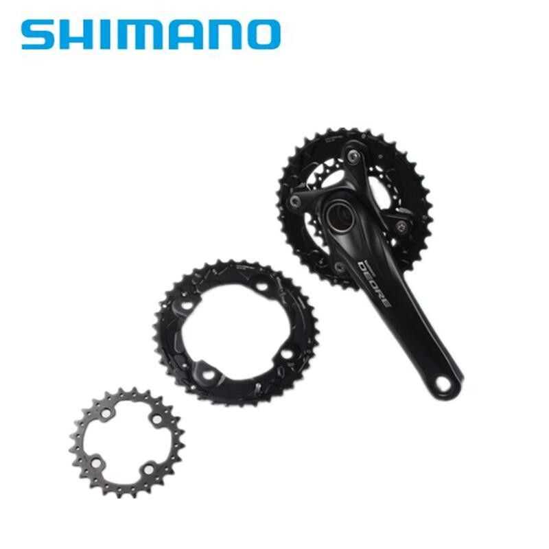Shimano Deore Original M610 M615 104BCD 2x10 Speed 38-24T MTB Crank Chainring 20s Bike Bicycle Crown Mountain Bike 38T & 24T