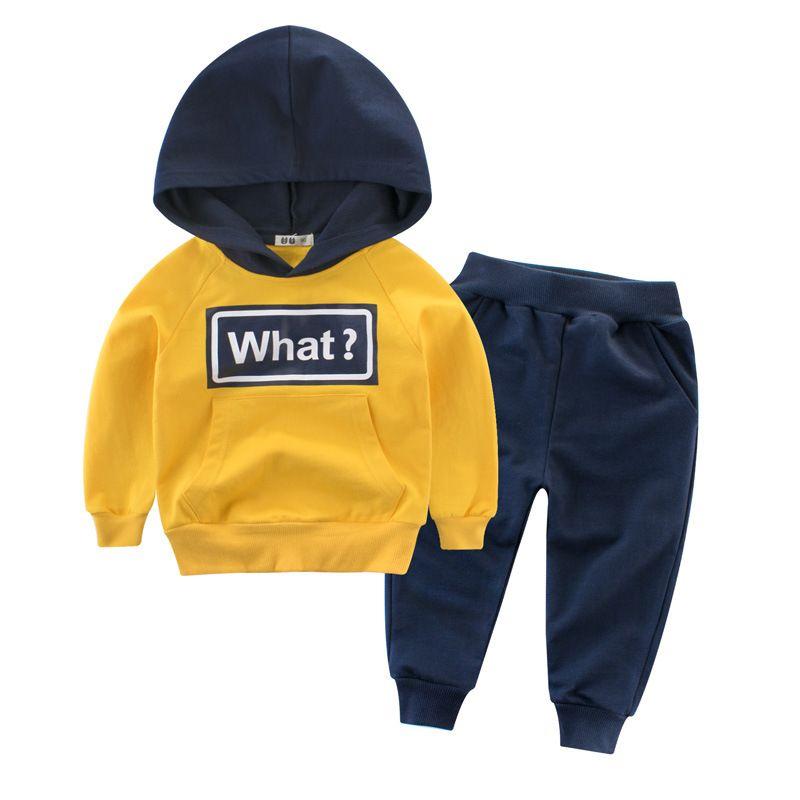 2018 Autumn Children's Wear, New 27KIDS Children's Suit, Boy's Autumn Wear Two Pieces of Baby Sweater.