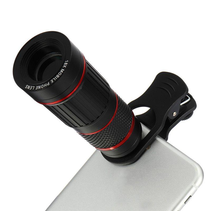 18X Zoom HD Lentille Optique Téléobjectif Télescope En Plein Air Camping Chasse Observation Des Oiseaux Monoculaire Caméra Clip-Sur Pour Les Téléphones Cellulaires