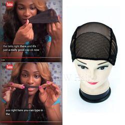 3 pcs Livraison Gratuite noir/brown full lace perruque caps pour la fabrication de perruques Taille libre perruque net cap tissage caps avec bretelles réglables dos