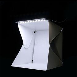 Mini Soft Box LED Photography Folding Studio Light Room Tent Studio Diffuse Black White Background Photo Studio Accessories