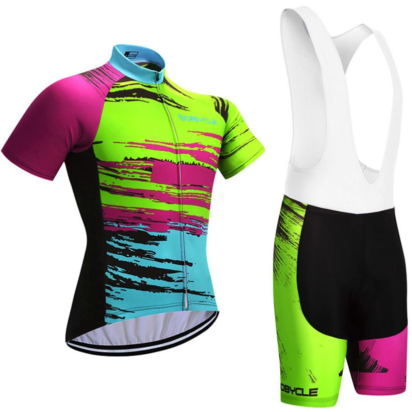 UCI cycling Season Graffiti TEAM pro cycling jersey 9D gel pad bike shorts set Ropa Ciclismo summer bicycling Maillot wear