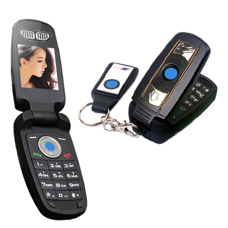 MAFAM X6 Débloquer Flip Clé Russe Grecque Sim Simple Petit Mini Petit Téléphone Portable Clé de Voiture BMW Téléphone Portable x6 P034