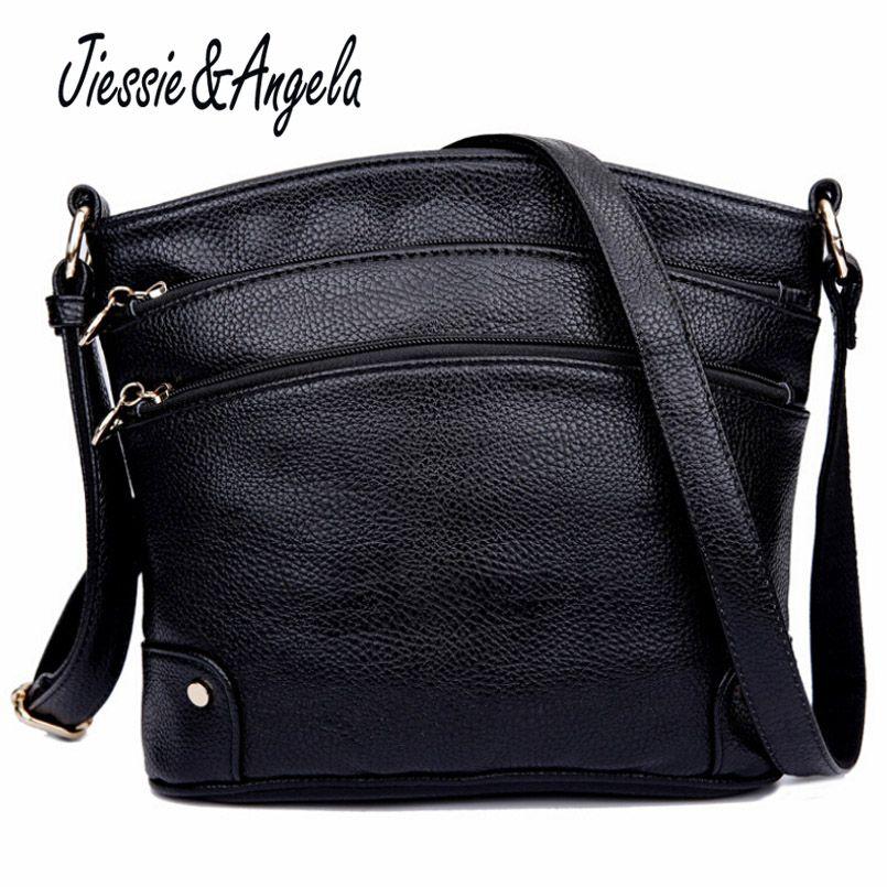 Jiessie & Angela Новая модная кожаная сумка для Для женщин Сумки известных брендов мешок моды Сумки Для женщин сумка Sac основной