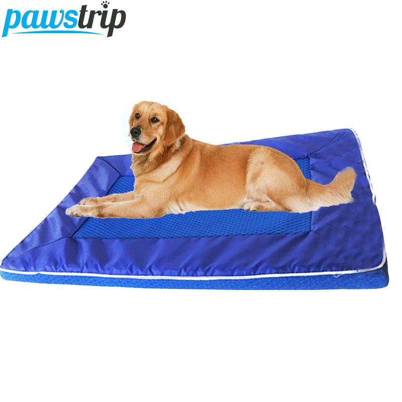 pawstrip 3 Size Summer Dog Bed Oxford Nylon Cooling Cat Beds Breathable Detachable Wash Large Dog Cushion Mat