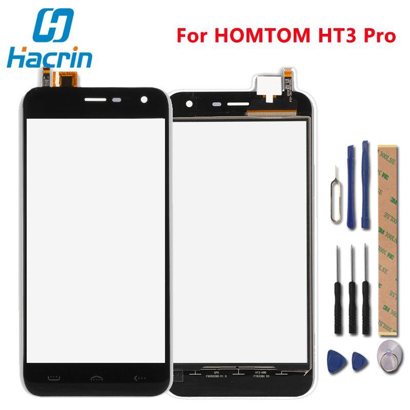 Hacrin Pour HOMTOM HT3 Pro Écran Tactile 100% Nouveau Digitizer Écran Panneau de Verre de Remplacement Pour HOMTOM HT3 Pro Téléphone
