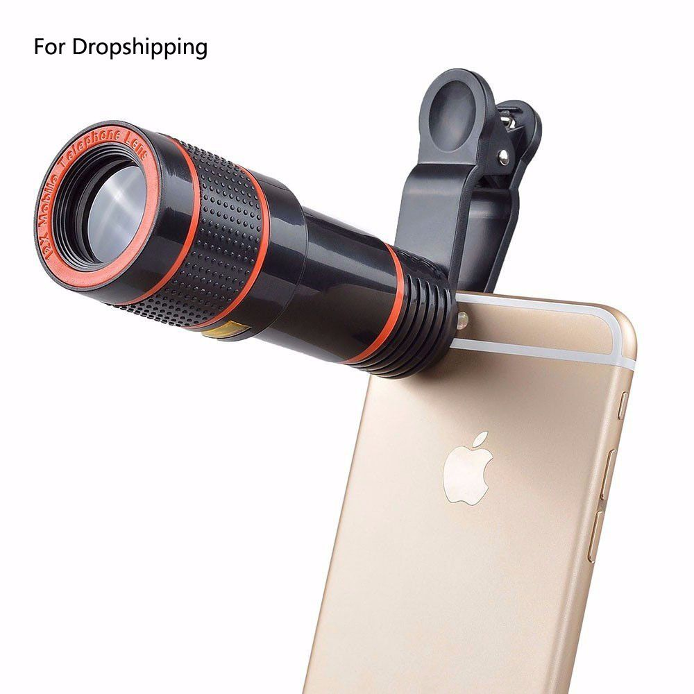 12X Zoom Telephoto Lens For Dropshipping Mobile Phone Camera Lens External Telescope With Universal Cli