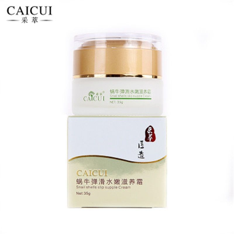 CAICUI Face Skin Beauty Care Snail Facial Day Night Cream 35g Moisturizing Whitening Anti Wrinkles Aging Oil Control
