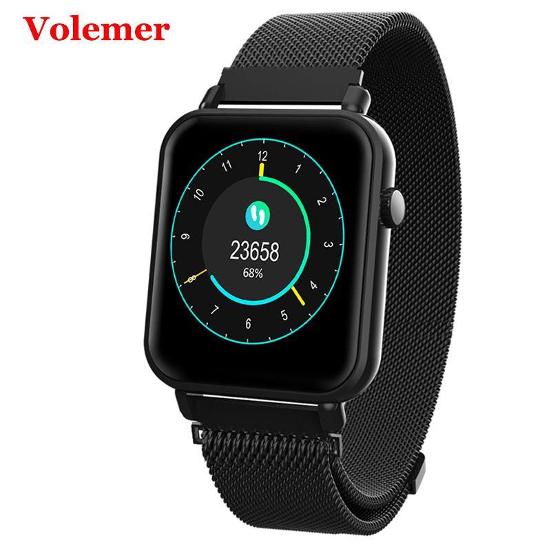 Volemer Y6Pro montre intelligente tension artérielle moniteur d'oxygène Multi Modes de sport Tracker de Fitness pour Samsung Huawei Pk Honor Band 3