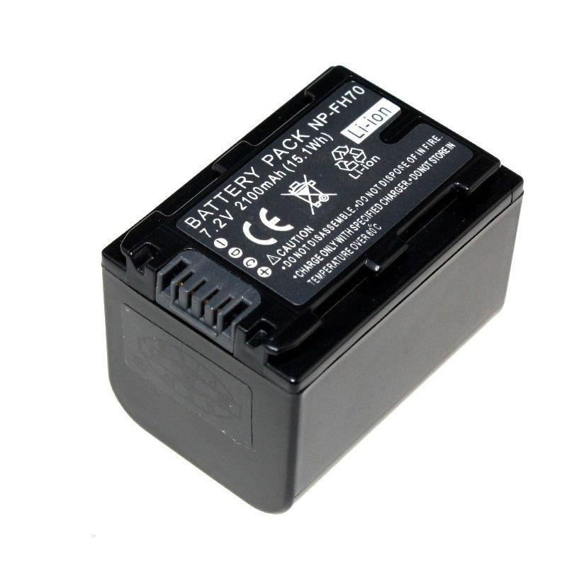 Быстрая доставка 1 шт. 7.2 В 2100 мАч NP-FH70 Батарея Перезаряжаемые NP-FH70 Батареи для камеры для Sony np-fh60 dcr-dvd650 hc52 SX40