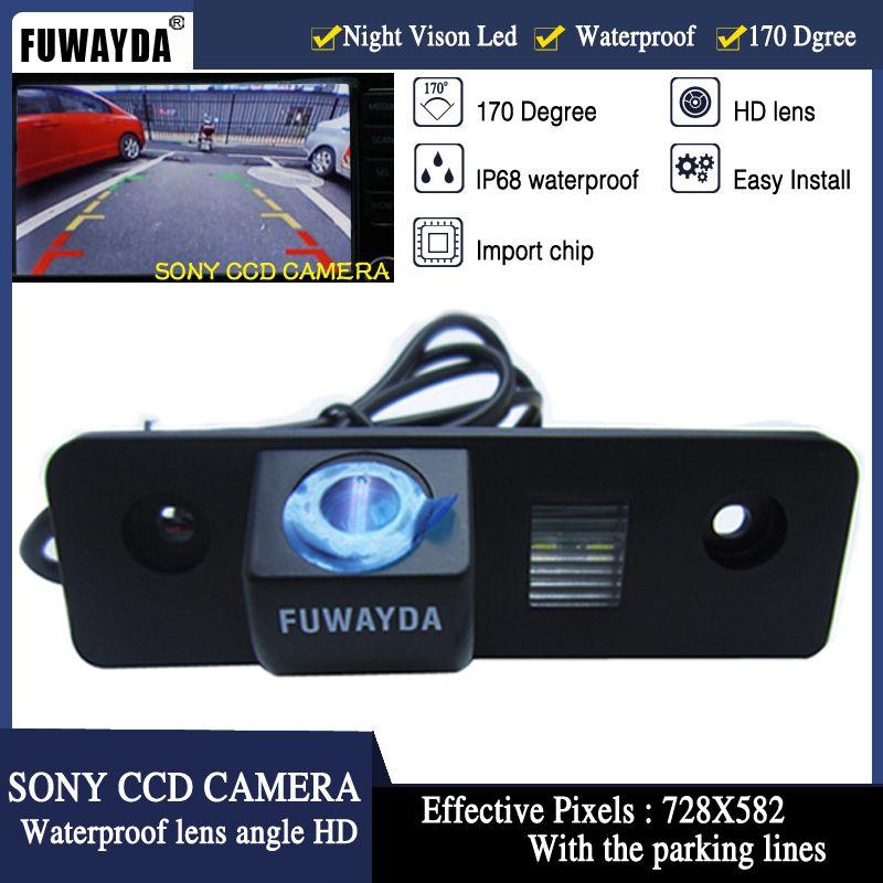 FUWAYDA Vision nocturne 170 ''grand Angle de vue étanche SONY CCD voiture vue arrière caméra de recul pour VW SKODA ROOMSTER OCTAVIA FABIA