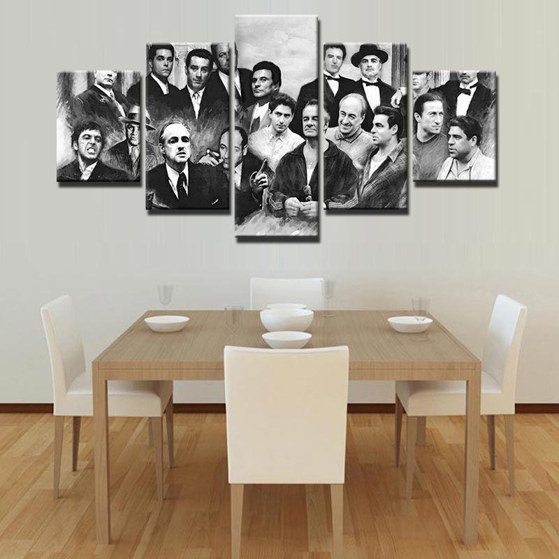 О фильме комната деко живопись на холсте современного дома принты liveing деко 5 шт. Топ Мода стены Книги по искусству украсить плакат