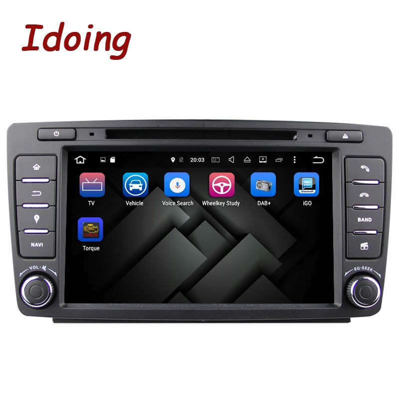 Idoing Android8.0 2G RAM 32G ROM 8Core 2Din Steering-Wheel For Skoda Octavia 2 Car Multimedia DVD Player Fast Boot TV 1080P HDP