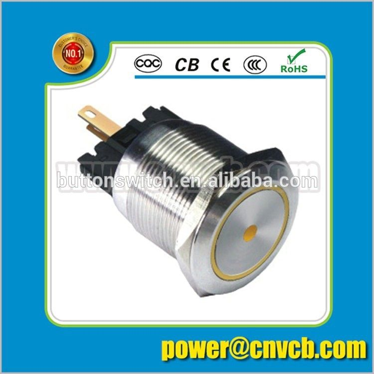 IN39 PA66,IP67 Blue color anti-vandal pushbutton switch with 50000H lamp life LED indicator 22mm