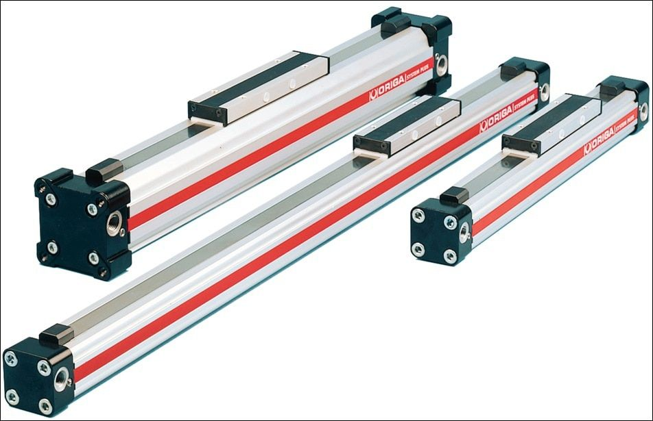 Pneumatic Rodless Cylinders OSP-P25-00000-00800 bore 25mm stroke 800mm total length 1000mm
