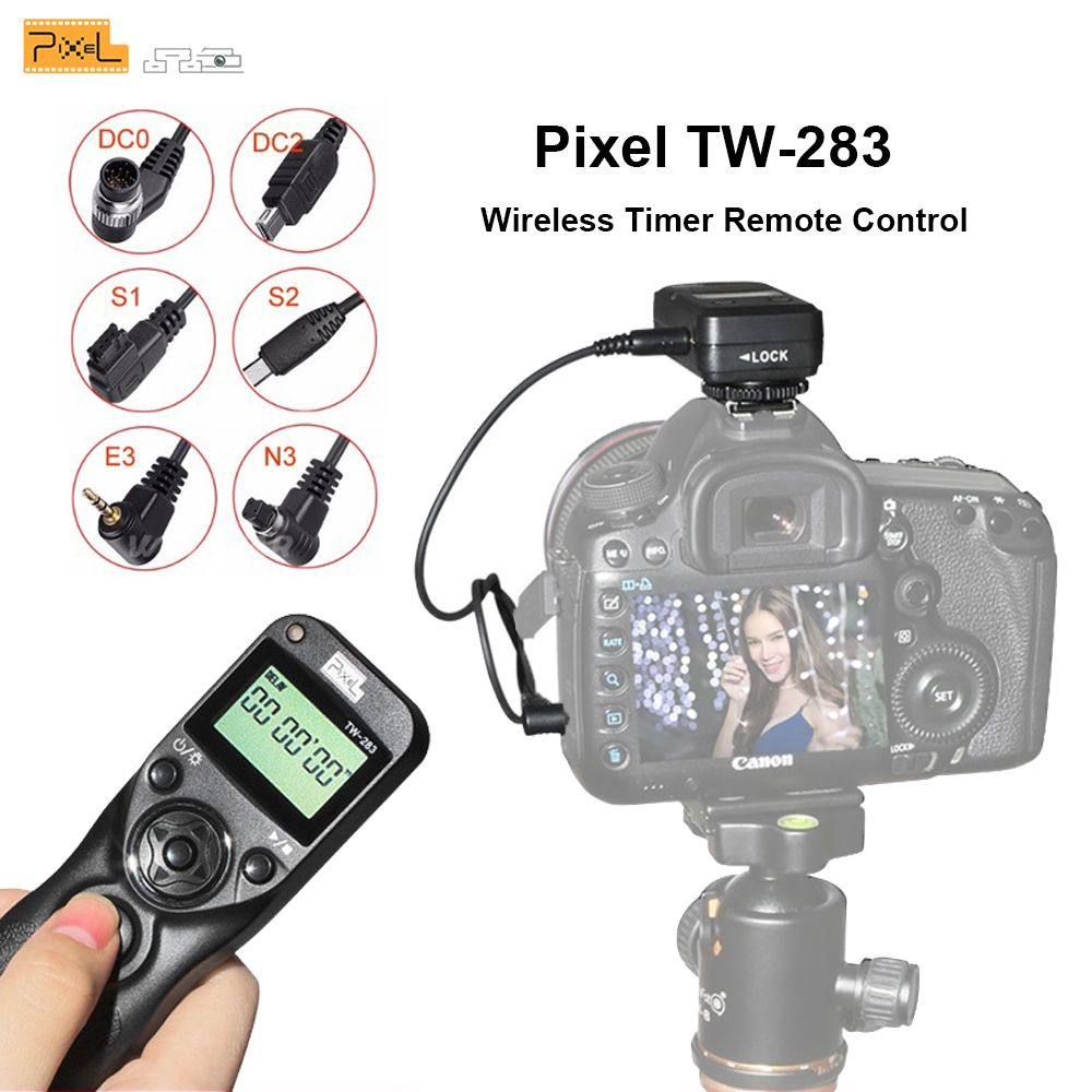 Pixel TW-283 Shutter Release Wireless Timer Remote Control For Canon Remote Sony Samsung Nikon d3400 d7200 d7000 d5300 Camera