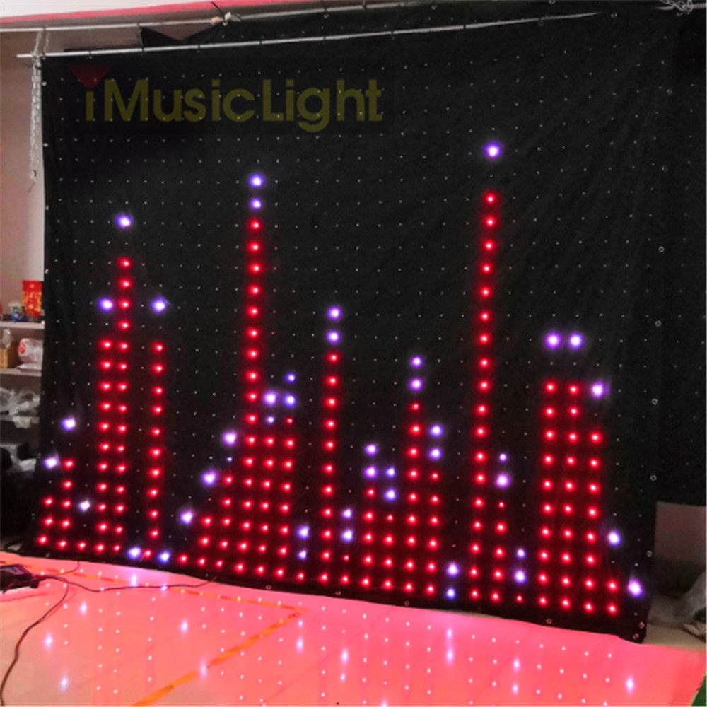 P10 2,5 M X 3 M PC/DMX Controller LED Vision Vorhang Bühne Flexible Bildschirm DJ Hintergrund LED Video vorhang