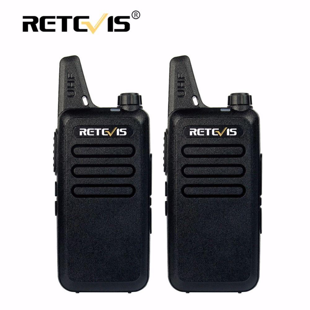 2 pcs Mini Walkie Talkie Retevis RT22 2W UHF VOX Scanner Portable two-way Radio Station cb Ham Radio Hf Transceiver Communicator