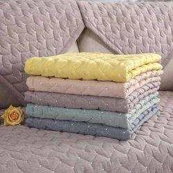 Kapas Sofa Cover untuk Ruang Tamu Warna Solid Kotoran Tahan Sofa Penutup Elastis Melindungi Hewan Peliharaan Anjing Cushion Mat 1 -3 Kursi Sofa