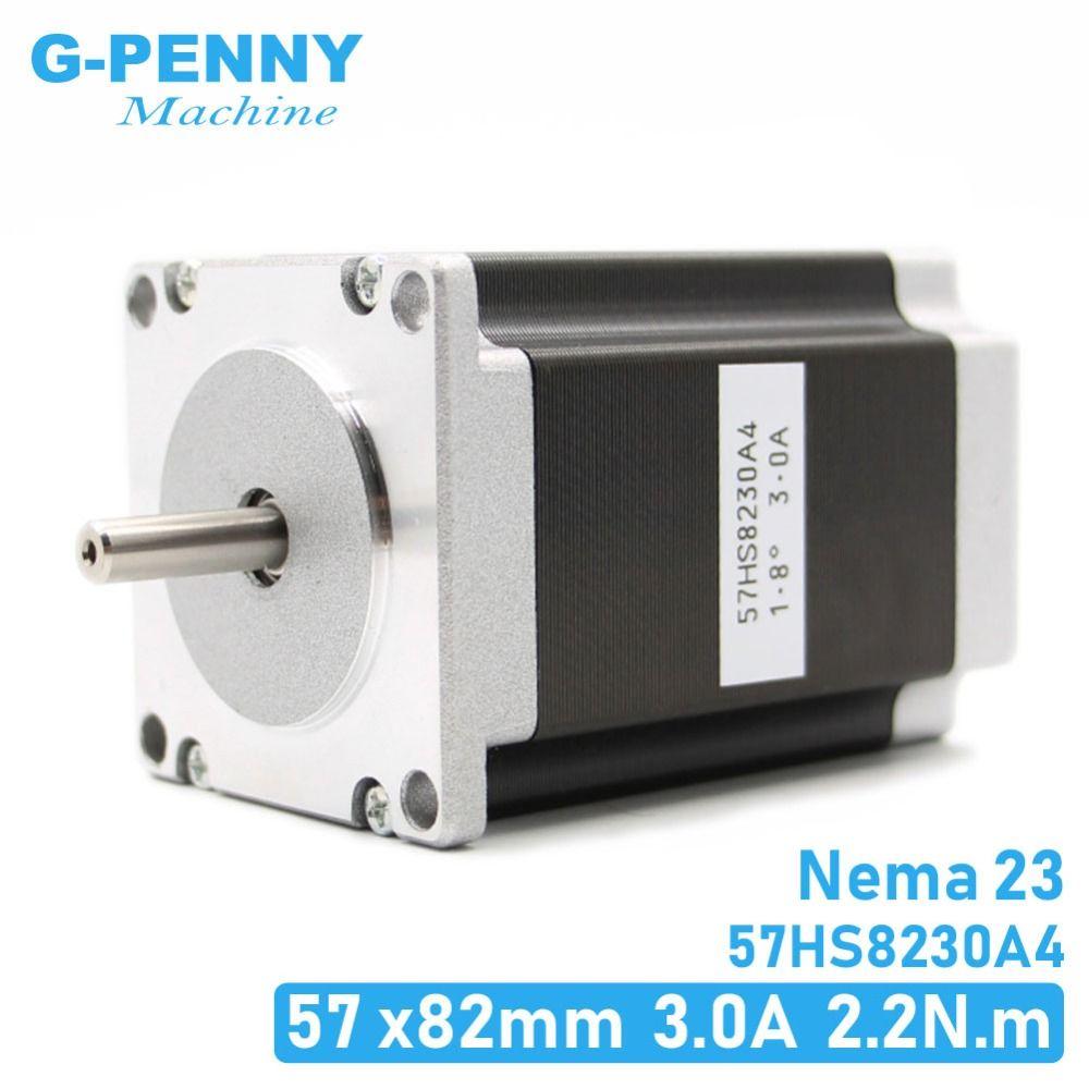 NEMA 23 CNC moteur pas à pas 57x82mm 3A 2.2N.m 315Oz-in Nema23 CNC routeur gravure fraiseuse imprimante 3D haute qualité