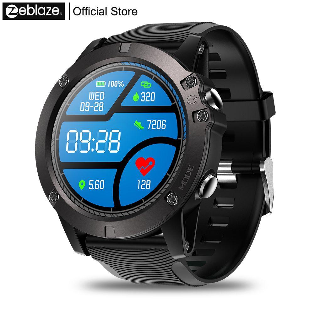 Zeblaze VIBE 3 PRO écran tactile couleur sport Smartwatch fréquence cardiaque IP67 étanche météo à distance musique hommes pour IOS et Android