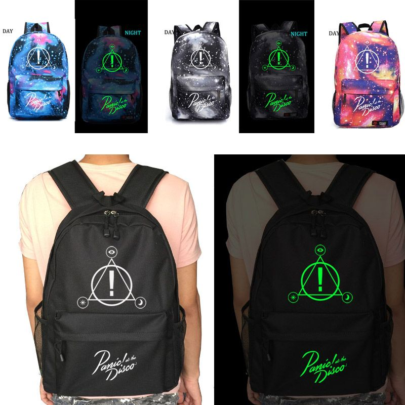 Panic At The Disco school bag Starry sky backpack student school bag Notebook backpack Leisure Daily backpack